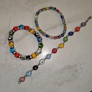 Lot of Evil Eye Bracelets